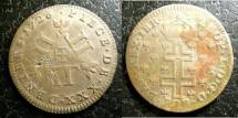 World Coins - Lothringen-German State  30 Deniers (XXX) 1726 F+