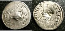 World Coins - Serbia  AR Dinar Circ.1355 Jovanic, Ruler 11, type 5  c/m Stefan Uros IV, Dubrojea VF
