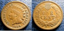 Us Coins - INDIAN CENT 1864 EF-40