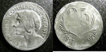 World Coins - France- Herault  25 Centimes 1917-20 Zn, EF