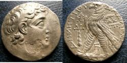 Ancient Coins - SELEUCID KINGS of SYRIA. Demetrios II Nikator. Second reign, 129-126/5 BC. AR Tetradrachm (26mm, 13.5 g, 12h). Tyre mint.