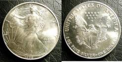 Us Coins - Silver Eagle 1992  Bu/Unc;  .999 Silver