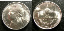 Us Coins - Jefferson Nickel 1942-S  MS-65,  Silver War Nickel