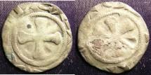 World Coins - LEPUY- Feudal France- 11-13th C. Denier VF, clipped