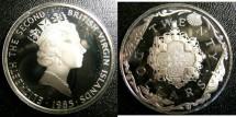 World Coins - BRITISH VIRGIN ISLANDS TWENTY DOLLARS 1985 GOLD CROSS  PROOF,.925 SILVER