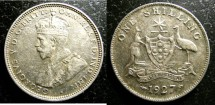 World Coins - Australia  Shilling 1927 VF/EF