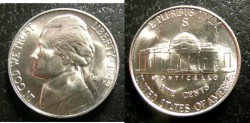 Us Coins - Jefferson Nickel 1942-S  MS-65,  Silver War Nickel