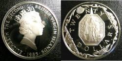 World Coins - BRITISH VIRGIN ISLANDS TWENTY DOLLARS 1985 BRASS RELIGIOUS MEDALLION PROOF,.925 SILVER