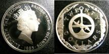 World Coins - BRITISH VIRGIN ISLANDS TWENTY DOLLARS 1985 ASTROLABE PROOF,.925 SILVER