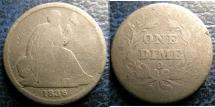 LIBERTY SEATED DIME 1838-O NO STARS GOOD