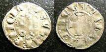 World Coins - Frankish Greece- Achaia  Denier Tournois 1316-18 Princess of Hainaut, VF