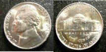 Us Coins - Jefferson Nickel 1945-P  MS-65,  Silver War Nickel