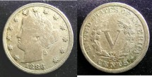 Us Coins - Liberty Nickel 1883 With Cents, VG-8