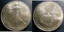 Us Coins - SILVER EAGLE 2000  BU/UNC; .999 SILVER, 1 OZ. ASW