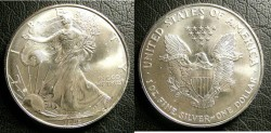 Us Coins - Silver Eagle 1996 Bu/Unc; .999 Silver