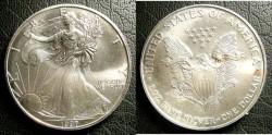 Us Coins - Silver Eagle 1997 Bu/Unc;  .999 Silver