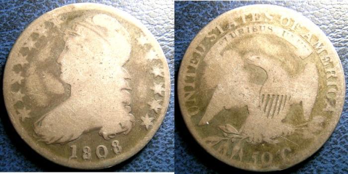 US Coins - BUST HALF DOLLAR 1808 G-4