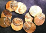 Us Coins - Lincoln Cent Nd 1990's Zinc Off Center Errors, $9.95 PER COIN