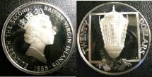 World Coins - BRITISH VIRGIN ISLANDS TWENTY DOLLARS 1985 SHIPS STEM LANTERNS  PROOF,.925 SILVER