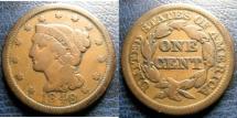 Us Coins - LARGE CENT 1848 FINE