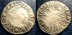 World Coins - AUSTRIA 1628 3 KREUZER FINE, KUTTENBERG