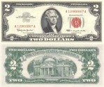 Us Coins - United States Note $2.00  Dollars 1963 Cu/Unc;