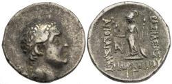 Ancient Coins - VF Cappadocia Ariobarzanes I Silver Drachm 83 - 82 BC Athena Nikephoros