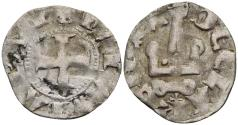 World Coins - Crusaders Achaea Greece Princess Maud of Hainaut Denier Tournois 0.722g