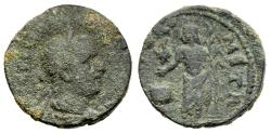 Ancient Coins - Extremely Rare Valerian I 253-260 AD AE28 Tyre Phoenicia River-God