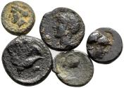 Ancient Coins - Lot of 5 Cypriot Bronzes c. 309 - 294 BC 10mm - 16mm