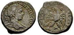 Ancient Coins - Elagabalus Antioch Tetradrachm Eagle Star Between Legs Wreath in Beak