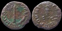 Ancient Coins - Vespasian - AE Quadrans - Judea Capta Serie -