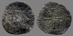 World Coins - France - Charles VIII - Liard au dauphin de Bretagne - Rennes mint - scarce