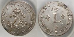 World Coins - France - America - Louis XV - double sols 1739 V Troyes