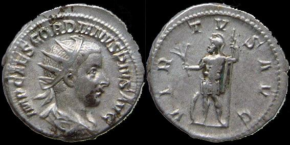 Ancient Coins - Gordianus III Pius - Antoninian - VIRTVS AVG - Rare obverse legend