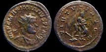 Ancient Coins - Maximianus - AE Aurelianus - VIRTVTI AVGG - Hercules and lion - Lyon mint