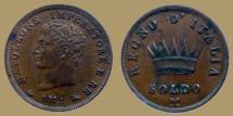 World Coins - ITALY - Napoleon I - SOLDO 1811 M - KM.13