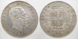 World Coins - Italy - Vittorio Emanuele II - 5 Lire 1872 - Milan - KM. 8.3