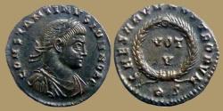 Ancient Coins - CONSTANTINE II Caes - AE reduced follis - CAESARVM NOSTRORVM VOT V - Rome mint - RIC.236 (2)