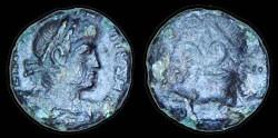 Ancient Coins - Constantius II - AE 13 - brockage - incus