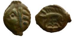 Ancient Coins - Celtic Gaul - Leuci - Potin - Patina!