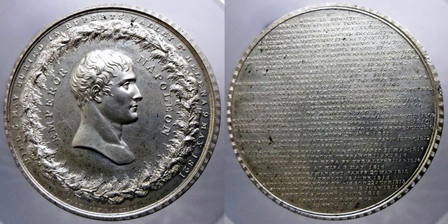 World Coins - GREAT BRITAIN - FRANCE - NAPOLEON - Medaillon for his life