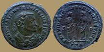 Ancient Coins - Diocletian - AE Follis - Post-abdication - PROVIDENTIA DEORVM QVIES AVGG - Trier - RIC.676a