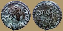 Ancient Coins - Constans - AE Reduced follis - VICTORIAE DD AVGG Q NN - Trier mint - RIC.182