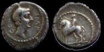 Ancient Coins - Octavian - Denar - Equestrian statue - RARE !!!