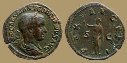 Ancient Coins - Gordian III - AE sestertius - PAX AVGVSTI - Rome - nice portrait
