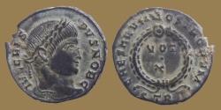 Ancient Coins - Crispus - AE reduced follis - CAESARVM NOSTRORVM VOT X - Trier mint - RIC.431