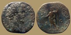 Ancient Coins - SEPTIMIUS SEVERUS - AE SESTERTIUS - VIRT AVG TRP II COS II PP - Rome - RIC 673c