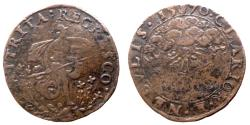 World Coins - Netherlands - Philippe II - AE token - Soldier Tramples Flowers 1570 - Dugniolle 2515