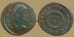 Ancient Coins - CRISPUS - AE reduced follis - CAESARVM NOSTRORVM - Trier mint